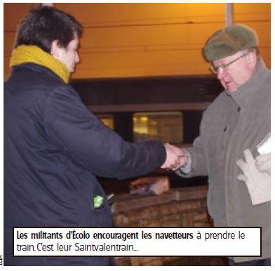 La Saint-Valentrain d'Écolo – L'Avenir 14/02/2014