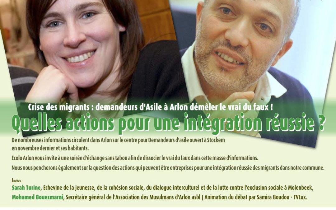 Crise des migrants : demandeurs d'asile à Arlon démêler le vrai du faux ! Quelles actions pour une intégration réussie ?