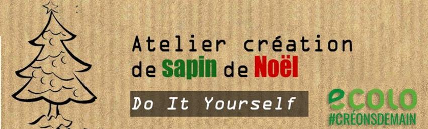 Invitation : Atelier Sapin de noël